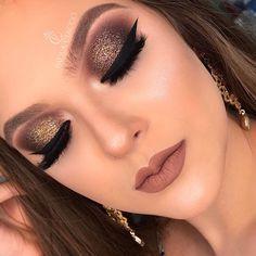 Makeup Tutorial Eyeshadow Gold Glitter Make Up 48 Ideas Liquid Makeup, Smokey Eye Makeup, Lip Makeup, Drugstore Makeup, Makeup Set, Makeup Goals, Makeup Inspo, Makeup Inspiration, Makeup Ideas