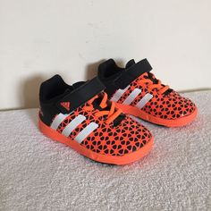 58a1a98d43 Boy's ADIDAS Ortholite Trainers Black & Orange UK Size 6 Kids Shoes | eBay