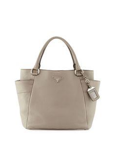 858ad5f870ef Prada Daino Side-Pocket Tote Bag