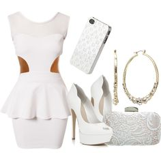 White Party, created by livelife2the-fullest on Polyvore