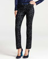 """Ann Taylor Animal Print Ankle Pants - Spotted (and coveted) in an instant, our skinny cropped pants - in a striking animal print - are nothing short of chic. Contoured waistband. Front zip with double hook-and-bar closure. Belt loops. Back welt pockets. 29"""" inseam."""