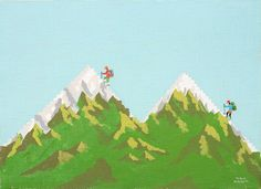 A to Z by Takao Nakagawa.  m is for mountain. :)