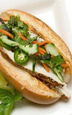 Chicken Bahn Mi Sandwich Vietnamese Chicken Sandwich
