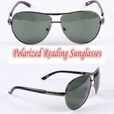 4f75f673a02 Polarized reading sunglasses!!! pilot Polarized square large frame mens  sunglasses !!!