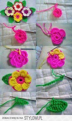 Crochet Flowers Tutorial By Carmen Heffernan : The Perfect DIY Crochet Triple Layer Flower Beautiful ...
