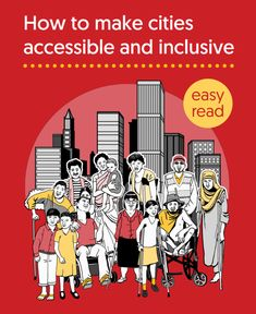 An simple reference for key ways to make a city accessible and inclusive, published by the Disability-Inclusive and Accessible Urban Development Network Public Transport, Disability, Urban Design, Fonts, Campaign, Key, Simple, Designer Fonts, Unique Key