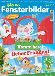Komm herein, lieber #Frühling Alle Vorlagen in Originalgrößen  Jetzt in Meine #Fensterbilder:  #Basteln #Ostern #DIY #madewithlove