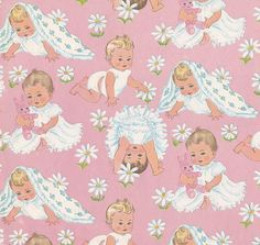 "Vintage Paper - Baby Girl Pink CPS - ""Small Pleasures"" 1964 by hmdavid, via Flickr"