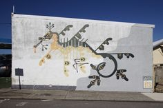 Amok Island's 'Seahorse' mural on Eden Street in North Perth