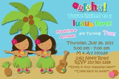luau party printables | Request a custom order and have something made just for you.