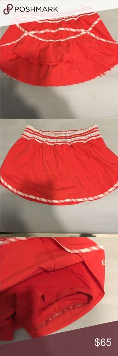 Lululemon red running skirt Cute red lululemon running skirt lululemon athletica Skirts
