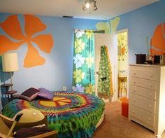 This is my room inspiration Interior Decorating Styles, Decor Interior Design, Cafe Interior, Psychedelic Decor, Multipurpose Furniture, Contemporary Interior Design, Bedroom Vintage, Furniture For Small Spaces, Colorful Interiors