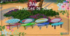 Sims 4 Build, Outdoor Furniture Sets, Outdoor Decor, Surfing, Cordon Bleu, Sims Cc, Objects, Random, Benches