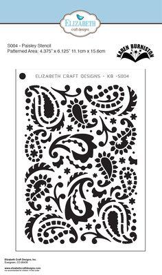 """Elizabeth Craft Designs - 5""""x7"""" Stencil - Paisley - by Karen Burniston"""