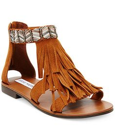 Steve Madden Giaani Fringe Flat Sandals