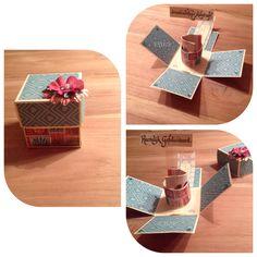 Een wensdoosje of explosion box, bv voor een verjaardag. @marijke geerlings-apers
