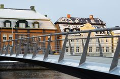 snow free pedestrian bridge by erik andersson architects