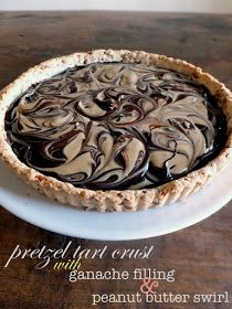 The Sweet Talker: Sweet and Salty Pretzel Tart with Chocolate Ganache and Peanut Butter Swirl