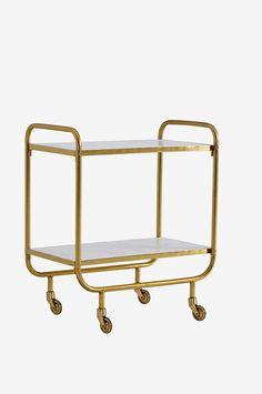 Ellos Home Rullevogn Bumble Messing/hvid - Småtingsopbevaring Shelves, Interior Design, House, Furniture, Home Decor, Awesome, Google, Table, Image