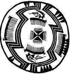Орнамент. Культура Триполье. 7-5 тыс. до н.э. (Украина. Из альбома В.Н. Даниленко.)