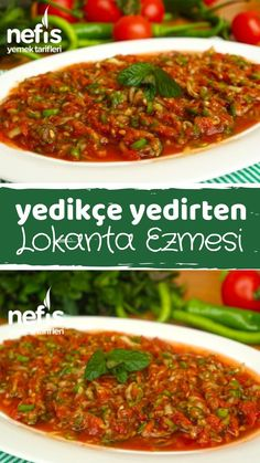 Appetizer Recipes, Appetizers, Best Salad Recipes, Wie Macht Man, Turkish Recipes, Butter, Food Pictures, Restaurant, Tapas