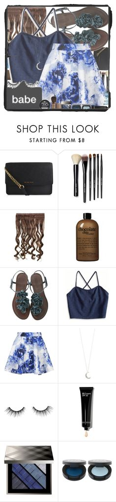 """""""babe. you got this ❀"""" by blinkflowerchild ❤ liked on Polyvore featuring MICHAEL Michael Kors, Bobbi Brown Cosmetics, philosophy, American Eagle Outfitters, Topshop, Accessorize, tarte, Hot Tools, Burberry and FACE Stockholm"""