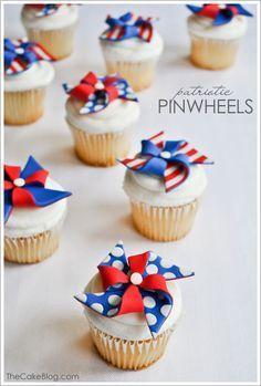 Patriotic cupcakes.