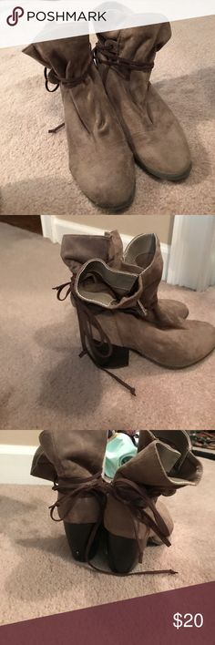 Qupid booties Good condition. Loose fit Qupid Shoes Ankle Boots & Booties