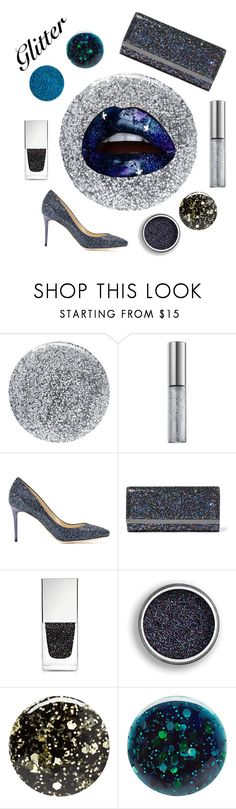 """Rock with Glitter!"" by catlynjunk ❤ liked on Polyvore featuring beauty, Smith & Cult, Urban Decay, Jimmy Choo, Givenchy, Nails Inc., Deborah Lippmann and glitterlips"