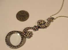 Vintage Style AB Crystal Magnifying Glass Wavy by JENSTARDESIGNS, $39.99