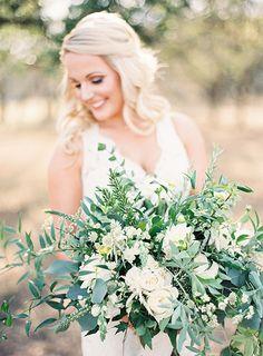 Bride's Organic Bouquet with Greenery | Brides.com