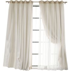 Braswell Blackout Thermal Curtain Panels Reviews (392025 PYG) ❤ liked on Polyvore featuring home, home decor, window treatments, curtains, black out curtains, thermal window panel, thermal curtains, blackout window treatments and blackout curtains