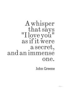 I do this I whisper into him arm when he holds me.. he has no clue. Because it terrifies me.