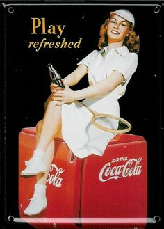 coca cola tennis girl