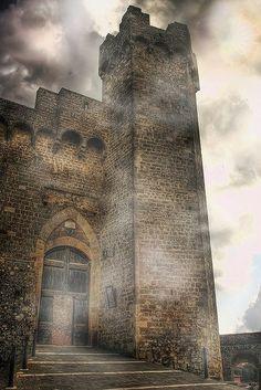 Medieval Castle Montalcino, Italy
