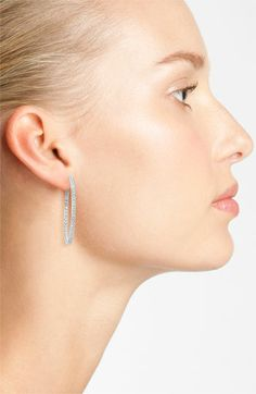 Nadri Large Channel Hoop Earrings | Nordstrom
