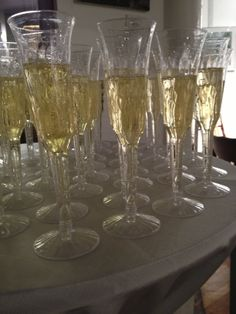 Champagne ready for the toast! Weddings by Rettew's Catering http://www.rettewscatering.com/