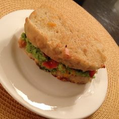 Bacon Guacamole Grilled Cheese Sandwich- quite tasty although I didn't add enough cheese - the recipe looks much gooier. Also made this with the English Muffin Bread :) - Click through to find the recipe.