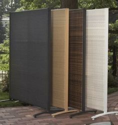 Backyard Privacy Screens Backyard Privacy Screens Backyard Privacy Screens Add Privacy Outdoors With Easy Up Screens Curtains More Backyard Backyard Privacy Screens Tall Outdoor Privacy Screen Panels Outdoor Wicker, Balcony Privacy Screen, Outdoor Screens, Glass Room Divider, Resin Outdoor Privacy Screen, Privacy Screen Outdoor, Apartment Patio, Bamboo Room Divider, Room Divider Walls