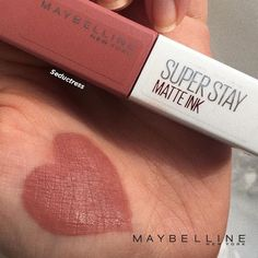 Maybelline MATTE INK- Seductress - makeup_more_pintennium Maybelline Matte Ink, Maybelline Makeup, Makeup Dupes, Skin Makeup, Makeup Cosmetics, Makeup 101, Makeup To Buy, Beauty Makeup, Drugstore Beauty