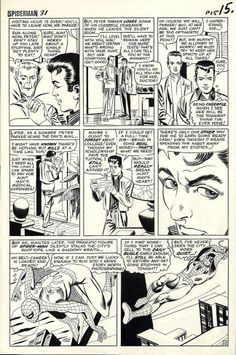 page by Steve Ditko, located in Jeremy's Steve Ditko Comic Art Gallery Comic Book Pages, Comic Book Artists, Comic Book Covers, Comic Artist, Marvel Comic Books, Comic Books Art, Marvel Comics, Amazing Fantasy 15, Steve Ditko