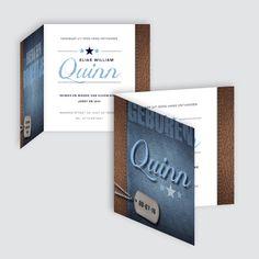 Geboortekaartje Quinn, ontworpen door Ontwerp Studio Rottier