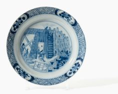 A blue and white 'Chine de Commande' plate, Kangxi period (1662-1722)