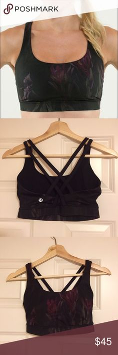Lululemon Energy Bra Black and floral Lululemon energy bra. Like new. lululemon athletica Tops