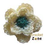 Crochet Flower Pattern by CrozhetZone.com