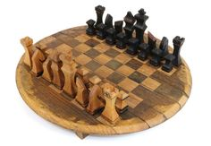 Bourbon Barrel Chess Set