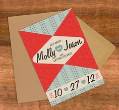 Thru 79 Design 50's Style Save The Date or by KJohnstonCreative,