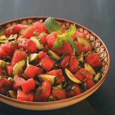 Minty-Watermelon Cucumber Salad