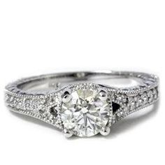 vintage engagement ring. I used to really like rings like this but there are others I love too now. The thing I do LOVE about these is the detailed bands. 9.5/10