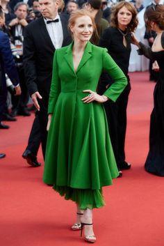Cannes Film Festival 2017 Jessica Chastain in Christian Dior.